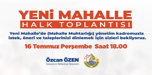 HALK TOPLANTISI YENİ MAHALLEDE